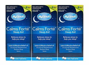 Hyland-039-s-Calms-Forte-Homeopathic-Sleep-Aid-3-Bottles-300-Tablets