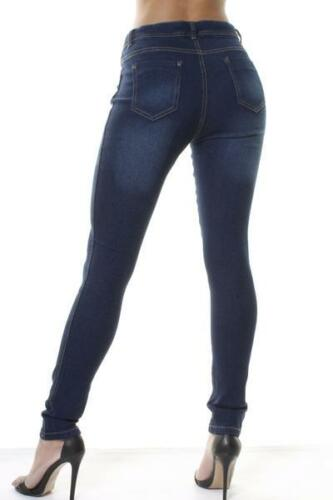 WOMENs Mid Waisted Skinny Slim Jeans Jeggings Ladies Denim Stretch Pants 6 to 22