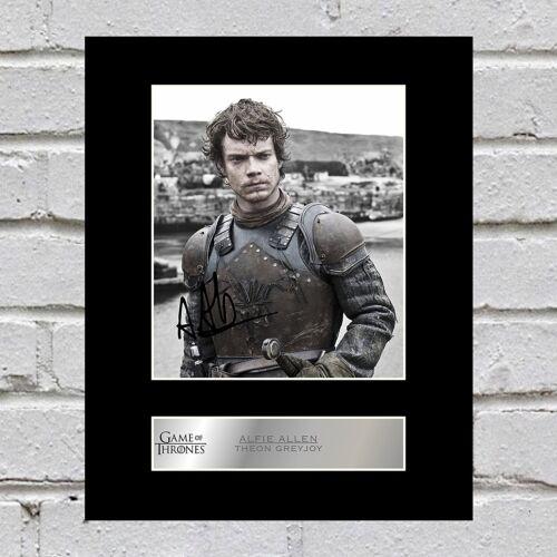 Game of Thrones Alfie Allen Signed Mounted Photo Display Theon Greyjoy