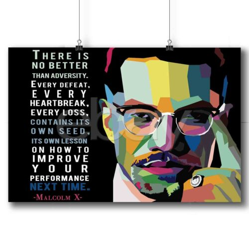 Malcolm X New Custom Art Poster Print Wall Decor