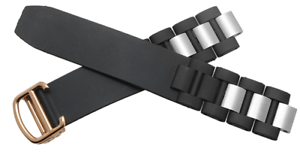 4881154fd55 Image is loading 20mm-Rubber-Watch-Band-Strap-Golden-Buckle-for-