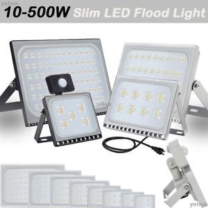500W 300W 200W 150W 100W Slim LED Flood Light Outdoor Landscape Garden Lamp 110V