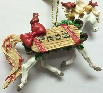 HORSE OF A DIFFERENT COLOR - Noel - Christmas Ornament - Resin