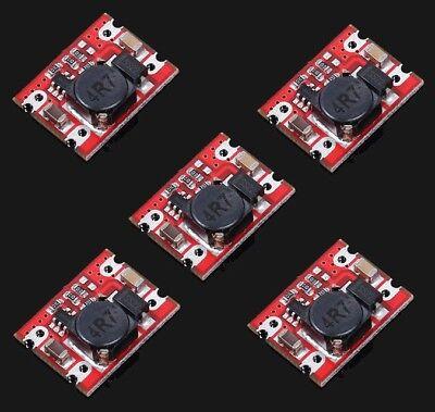 5pcs 2A DC Step Up Boost Converter Module 2000mA 2-5V to 5V Voltage Regulator
