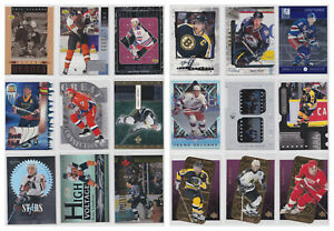 Hockey-90s-Inserts-Parallels-Rare-SP-Numbered-Choose-From-List-See-Scans