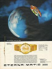 Publicité Advertising 1964  Montres  ETERNA MATIC 3000 montre calendrier