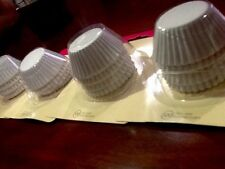 400 MINI CUPCAKE LINERS Baking Cups CAKE MATE White(4 packs of 100) NEW USA MADE