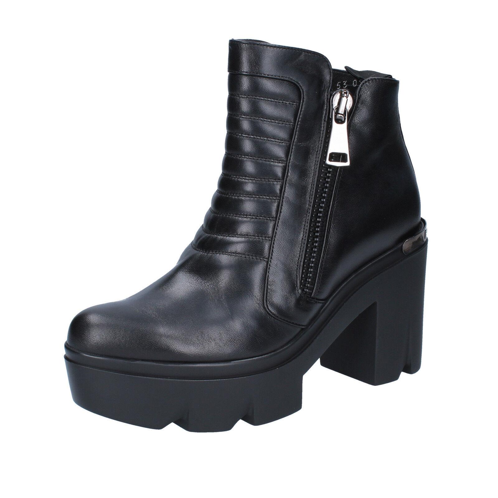 scarpe donna ROBERTO BOTTICELLI 37 EU stivaletti nero pelle BY559-37