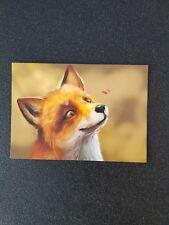 carte postale mr renard et mme coccinelle