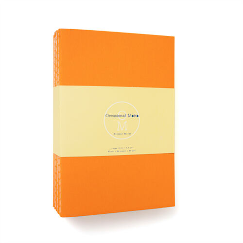 Occasional Motto 10-pack kraft notebook 60 pages 80 gsm sewn composition