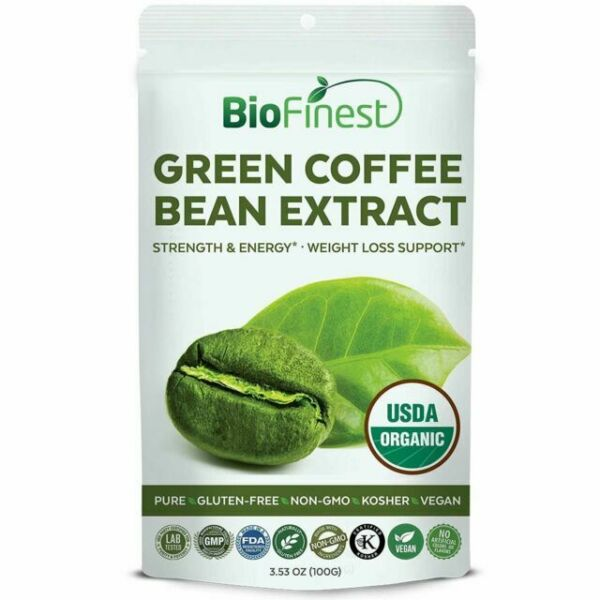 Green Coffee Bean Extract Powder 100mg USDA Certified ...