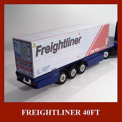 Freightliner Model Shipping Containers 20ft / 40ft X 6 Scale Ho 1:87 Alta Qualità E Poco Costoso