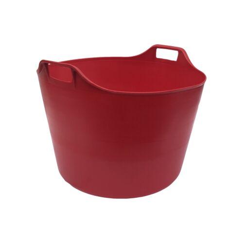 RED EXTRA LARGE 76L FLEXI TUB BUCKET TRUG STORAGE FLEXIBLE BASKET HEAVY DUTY