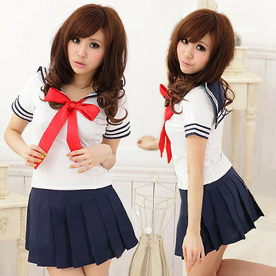 Sexy Japan adult School Girl cosplay halloween costume women fancy dress uniform