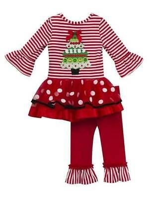 NWT-Girls Tree Christmas 2 Pc Tunic /& Leggings Set-12 mth 18 mth 24 mth 3T 4T 5T