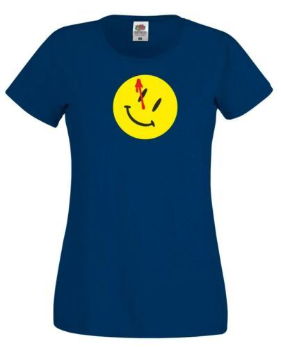 Watchmen T Shirt Smiley Face TV Series Superhero Comics Fans Gift Women Tee Top