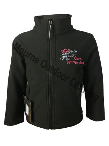 Kids Childrens Girls Scania V8 Regatta Full Zip Soft Shell Jacket Coat