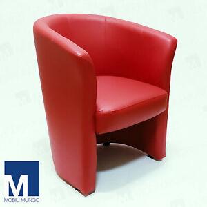 Dettagli su POLTRONA A POZZETTO in ecopelle sedia poltroncina ufficio divano design moderno