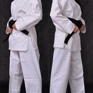 Karate Gi Uniform Suit Martial Arts Adult Lightweight Kids Belt Outfit