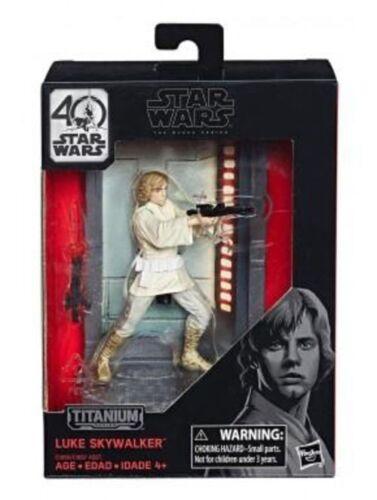 Star Wars Titanium Series 40th Anniversary Wave 1 Luke Skywalker Action Figure