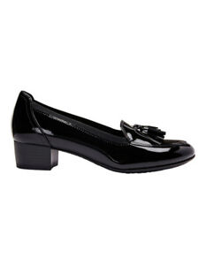 NEW-Wide-Steps-Gilda-Black-Patent-Pump