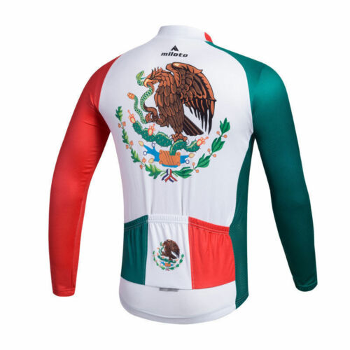 Mexico Team Cycling Clothing Shirts Tops Men/'s Bike Cycling Long Sleeve Jersey
