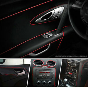 5 meters car styling moulding decorative red filler strip for Auto interieur styling