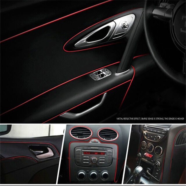 5 Meters Auto Car Styling Moulding Decorative Red Filler Strip ...
