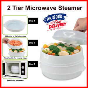 New Microwave Vegetable Steamer Healthy Eating Cook Kitchen Tools Diet Fish Food