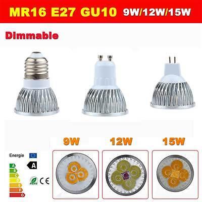 Ampoule Dimmable Energy Saving E27 GU10 MR16 LED Spot Lampe Bulb 9W 12W 15W