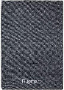 LOOPY-LOP01-Natural-CHARCOAL-Plain-THICK-Loops-Wool-Plantation-Designer-Rug