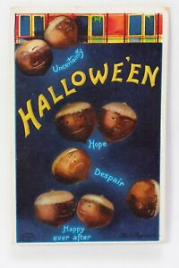Halloween Greetings Acorns of Uncertainty Clapsaddle Postcard International Art