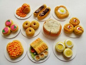 DOLLS-HOUSE-MINIATURE-FOOD-1-12-10-X-SWEET-N-SAVOURY-FOOD-PLATES-COMBINED-P-P