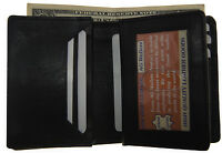 Mens Expandable Leather Credit/business Card Holder Front Pocket Bill Wallet