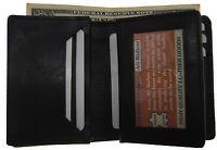 Mens Expandable Leather Credit/business Card Holder Front Pocket Bill Wallet