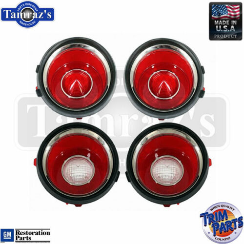 SET 71-73 Camaro with RS Back Up Reverse /& Taillight Tail Light Lamp Lens USA