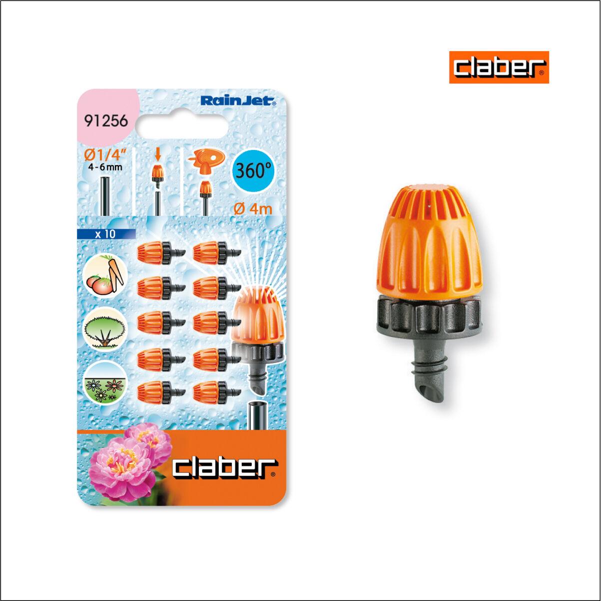 Claber Rainjet 360 Micro Sprinklers model 91256 pack of 10. Drip Irrigation.