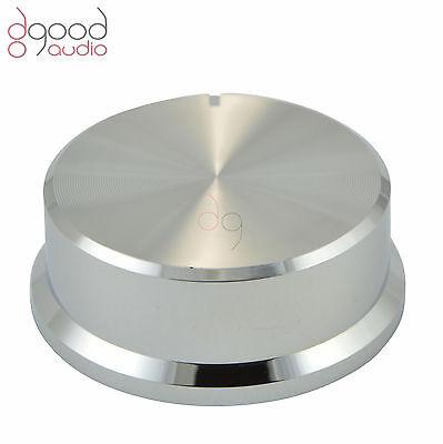 1x 45mm Chrome Silver Plastic 6mm Volume Control Potentiometer Knob Hi-Fi Audio