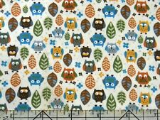 Timeless Treasures Mini Hoot Owl Cream Fabric