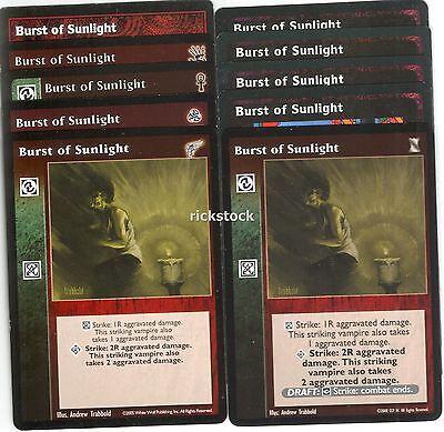 Burst of Sunlight x6 Mixed KoT//3rd Ed.//KMW//BH//Camarilla Ed V:TES VTES
