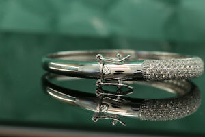 2-5ct-14K-White-Gold-Diamond-Women-039-s-Bracelet-Bangles-Tennis-Bracelet-7-034