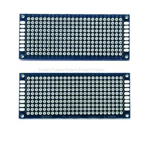 2xpcs Prototype PCB universel double face circuit imprimé 3 x 7cm Bleu