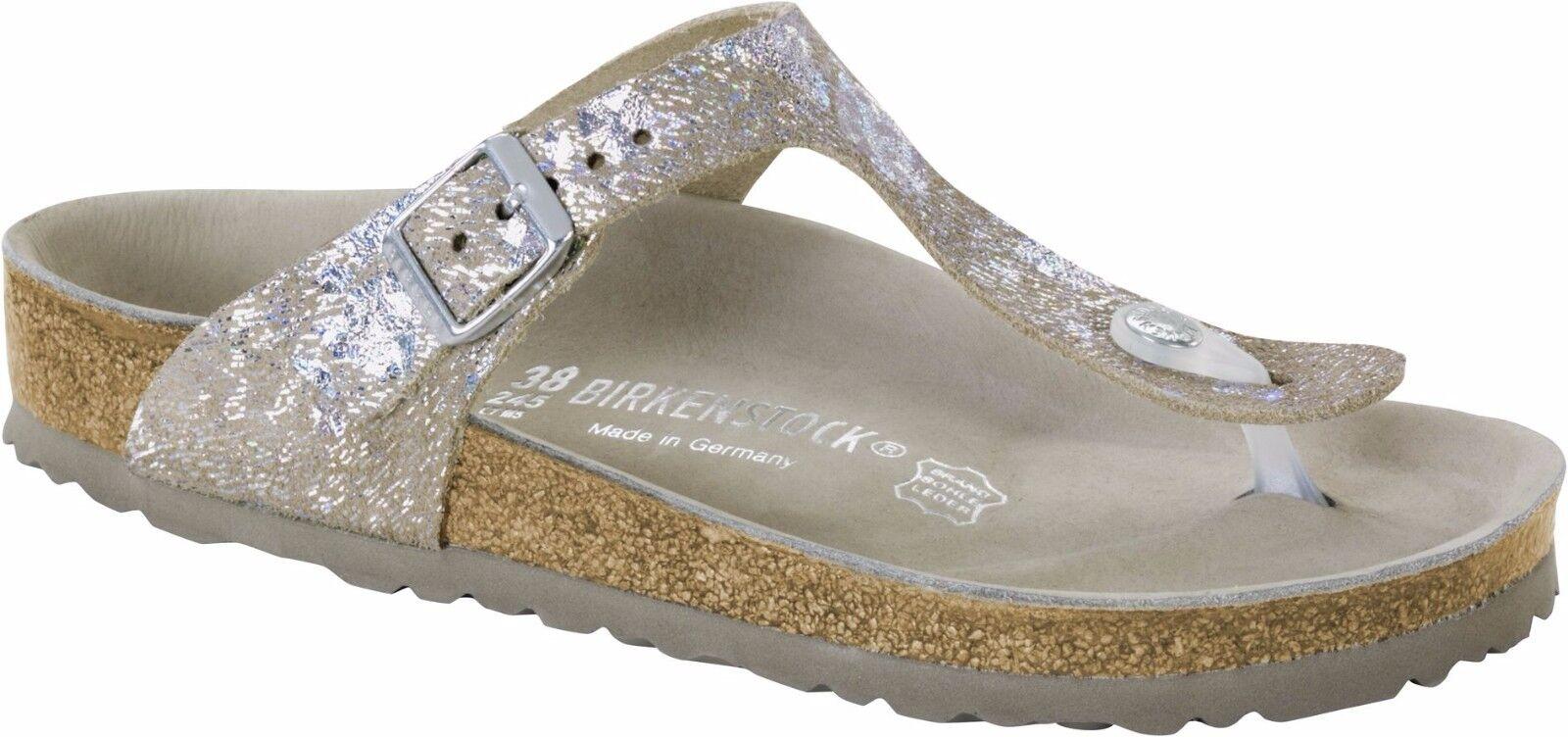 Birkenstock Exquisit Gizeh Spotted Metallic normal Silver Größe 35-43 Fußbett normal Metallic 026983