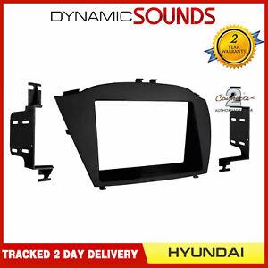CT24HY29 Car Double Din Fascia Panel Adaptor Black for Hyundai ix35 Tucson