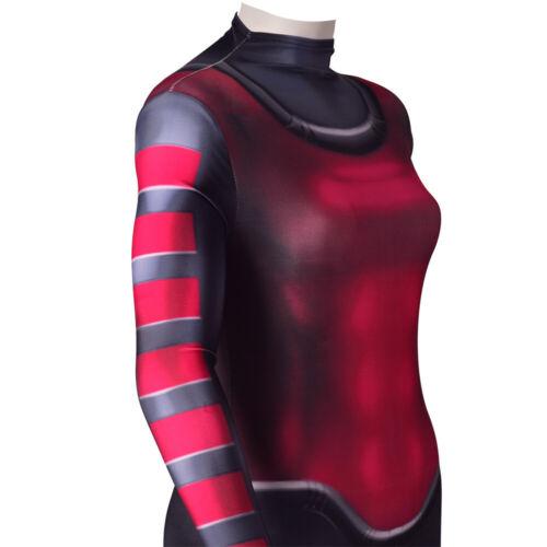 Gambit Jumpsuit Superhero Bodysuit Cosplay Costume For Adult /& Kids Halloween