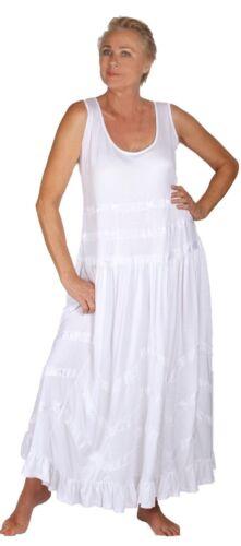 Bohemian Maxi Dress Jersey Zig-Zag Trim Chic Plus Sizes W429 LotusTraders