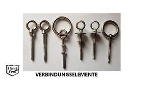 Augbolzen-Augenschraube-Osenschraube-Ringbolzen-Ringschraube-EDELSTAHL-A4