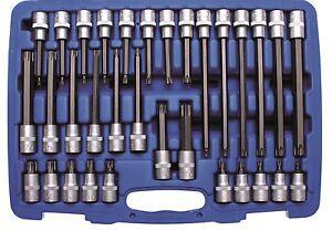 """BGS Torx Schlgschrauber Bit Nüsse T20-T70 10 tlg t-Profil 1//2/"""" Steckschlüssel"""