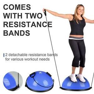 "23/"" Yoga Half Ball Balance Trainer Fitness Strength Exercise Gym w//Pump Blue"
