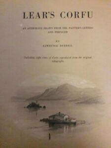 Lear-039-s-Corfu-Lawrence-Durrell-Dedicace-de-l-039-auteur-et-autographe-Lithographies